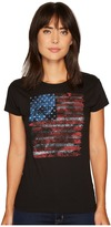 Stetson Distressed USA Flag Screen Print Women's Clothing