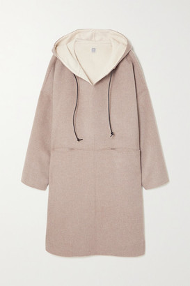 Totême Hooded Wool And Cashmere-blend Coat - Beige