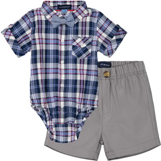 Andy & Evan Bodysuit, Shorts & Bow Tie Set