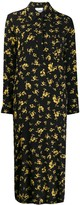 Ganni Relaxed-Fit Floral Print Shirt Dress