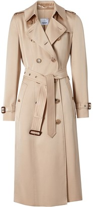 Burberry Silk Double-Breasted Trench Coat