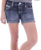 Amethyst Jeans Black Denim Embellished-Pocket Summer Shorts - Plus
