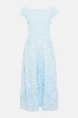 Coast Bardot Neck Embroidered Midi Dress