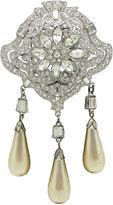 One Kings Lane Vintage Art Deco Trembler Brooch w/ Faux-Pearls
