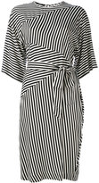 Diesel striped tie fastening dress - women - Viscose - S