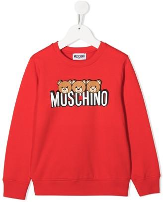 MOSCHINO BAMBINO Logo-Print Sweatshirt