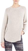 Akris Punto Knit Crewneck Circle-Detail Sweater
