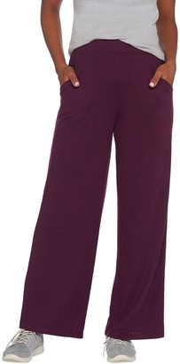 Denim & Co. Active Petite Heavenly Jersey Wide-Leg Pants