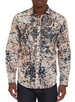 Robert Graham Limited Edition Galaxy Complex Sport Shirt, Cream