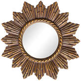 One Kings Lane Vintage Convex Starburst Mirror - Janney's Collection - bronze