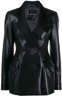 Ermanno Scervino double-breasted faux-leather jacket