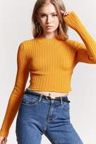 Forever 21 Cropped Mock Neck Sweater