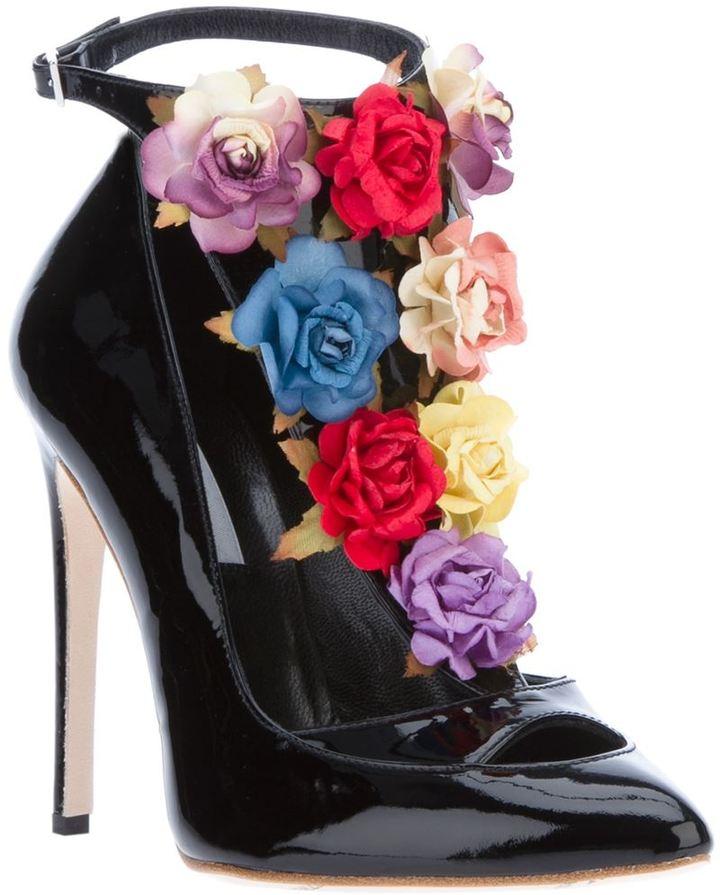 Charkviani 'Jane' floral embellished pump