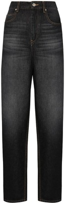 Etoile Isabel Marant High-Waisted Straight-Leg Jeans