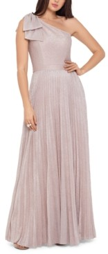 Xscape Evenings One-Shoulder Allover-Glitter Gown