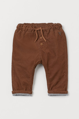 H&M Fully Lined Corduroy Pants