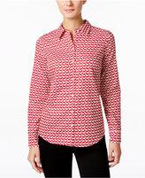 Charter Club Geo-Print Shirt, Only at Macy's