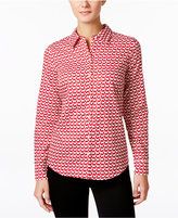 Charter Club Petite Dog-Print Shirt, Only at Macy's