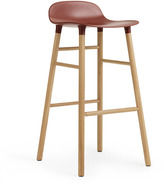 Normann Copenhagen Form Barstool H75cm Red/Oak