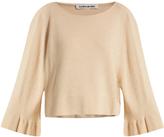 Elizabeth and James Freja fluted bell-sleeved knit sweater
