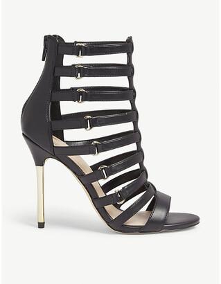 Aldo Unaclya caged faux-leather heel sandals