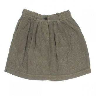 Isabel Marant Green Linen Skirt for Women