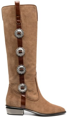 Kate Cate Button-Detail Boots