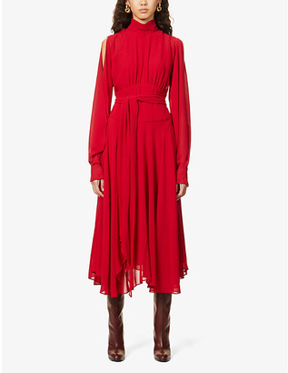 Camilla And Marc Racquel high-neck crepe dress