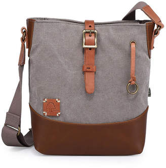 Tsd Brand Redwood Canvas Crossbody Bag