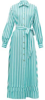 Evi Grintela Lily Striped Cotton Shirt Dress - Womens - Green Stripe