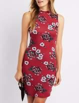 Charlotte Russe Floral Mock Neck Bodycon Dress