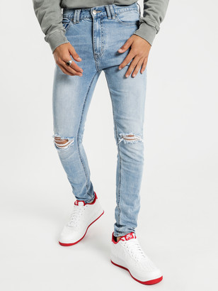 Nena And Pasadena Flynn 5 Pocket Skinny Fit Jeans in Havana Blue