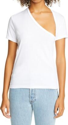 John Elliott Asymmetrical Neck Supima(R) Cotton T-Shirt