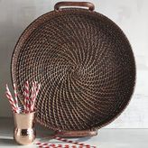 Pier 1 Imports Round Rattan Tray
