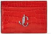 Jimmy Choo Croc-Embossed Leather Umika Card Holder