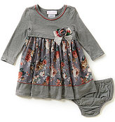Bonnie Jean Bonnie Baby Baby Girls 12-24 Months Knit to Floral Chiffon Dress