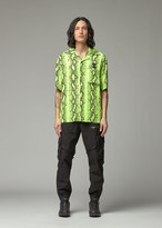 Off-White Off White Men's Snake Holiday Shirt in Yellow Size Small 100% Polyester
