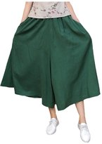 Mordenmiss Women's New Elastic Waist Wide Leg Pants With Pockets
