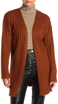 FAVLUX Ribbed Knit Open Cardigan