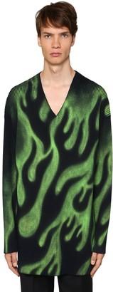 Balenciaga V-Flame Wool Sweater