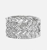 Avenue Zig Zag Stone Stretch Bracelet