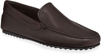 Tod's Men's City Leather Moc-Toe Driver Shoes