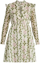 Giambattista Valli Floral-print long-sleeved silk-chiffon dress