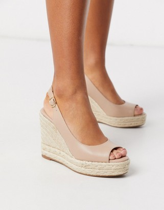 Aldo Aforella peep toe espadrille wedges in bone