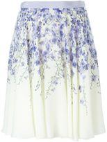 Giambattista Valli orchid print skirt