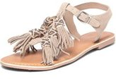Dorothy Perkins Womens Grey 'Feather' Leather Sandals- Grey