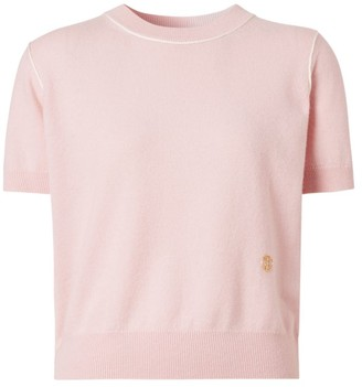 Burberry Short-Sleeve Cashmere Sweater