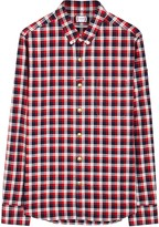 Moncler Gamme Bleu Red Checked Cotton Shirt