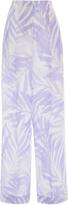 Michael Kors Palm Sunprint Cuffed Trouser