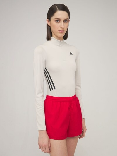 Thumbnail for your product : adidas Long Sleeve Leotard W/ Mesh Insert